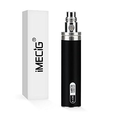 IMECIG 3200mAh Batterie pour Cigarette Électronique, Voltage Réglable avec LED