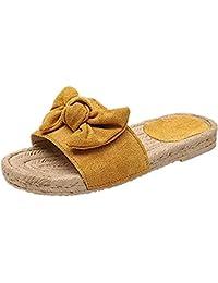 1b292782 Sandalias Mujer Planas Verano Piel Punta Abierta Chanclas Zapato De Playa  Al Aire Libre Moda Fiesta