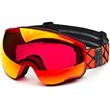 Briko KABA Máscara esquí, Unisex Adulto, Matt Orange Fluor, ...
