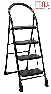 Paffy Heavy Folding Ladder With Wide Steps - Milano 4 Steps (4.1 Ft Ladder)