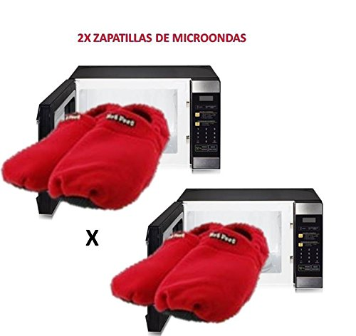 2x-Zapatillas-para-microondas-de-estar-en-casa-Rojas-