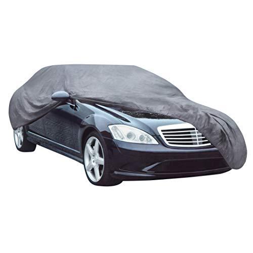 Relaxdays Autogarage, TxBxH: 432 x 165 x 120 cm, Größe M, mit Tasche, Lackschutz im Sommer und Winter, PKW, PEVA, grau