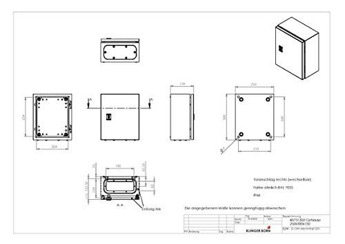 Metallgehäuse für z.B. Schaltschrank 250x300x150mm (BxHxT) - 2
