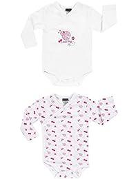Jacky Boley Baby Mädchen Wickel-Body langarm 2er-Pack Käfer rosa 6151781