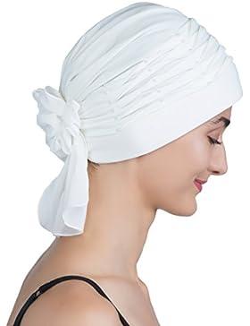 Turbante retorcido para pérdida de pelo y cáncer, quimioterapia
