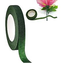 Chytaii Cinta Floral Cinta Adhesiva Papel de Envoltura para Florista de Flores Artificial Paquete de 1 Verde