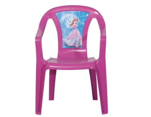 PROGARDEN 46214 Enfants Fauteuil empilable SEDIA Baby 'Princess', 35 x 36,5 x 51,5 cm en Plastique Rose