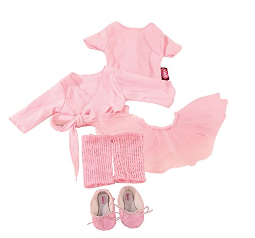 Götz 3401076 Kombination Primaballerina - Balletspaß Puppenbekleidung Gr. XL - 7-teiliges Bekleidungs- und Zubehörset für Stehpuppen 45 - 50 cm