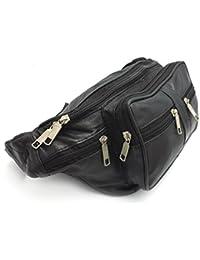 d6e7d07fdc79 Cervo Unisex Large Real Leather Bum Waist Bag Waist PouchTravel Holiday  Money Belt Pouch Change Bumbag
