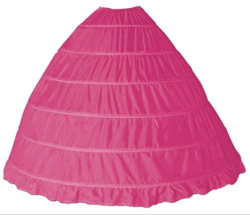 Bridal_Mall Damen Unterrock Reifrock Petticoat Crinoline für Hochzeitskleider Ballkleider Abendkleider Brautkleider (Hot Pink) (Kostüme Krinoline)