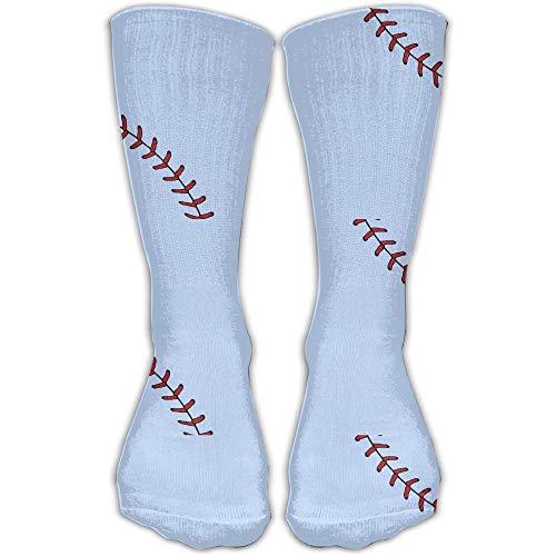 Xdevrbk Baseball Grain Sports Running Long Socks Novelty High Athletic Sock Unisex -