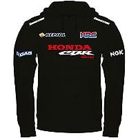 Felpa Con Cappuccio Honda CBR Racing Personalizzata Nera