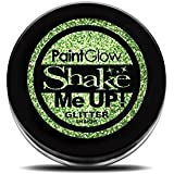 Paint Glow Shake Me UP! Holographic Glitter Shaker Green with Fix Gel