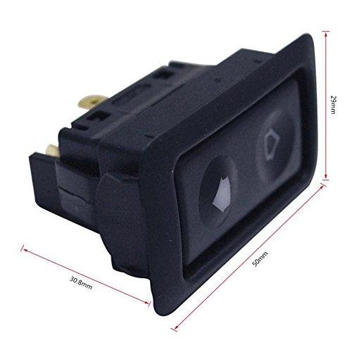kingpo Auto elektrische Fensterheber Schalter mit grünem Light1PC / Packs Universal 6Pin 12-24V