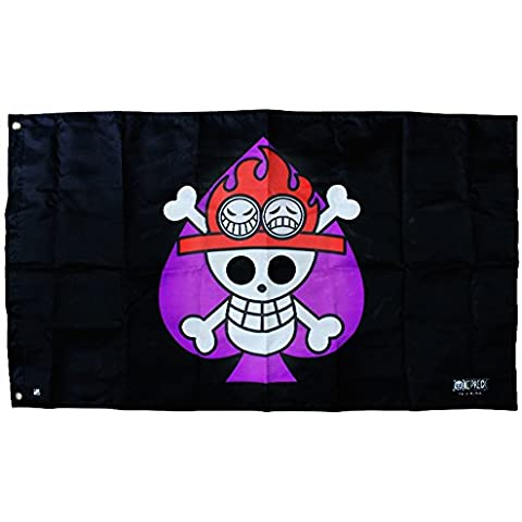 ABYstyle ABYDCT019 - Flaggen One Piece, Ace, 70 x 120 cm