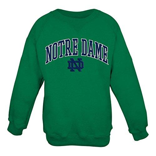 Notre Dame Fighting Irish NCAA Embroidered Crew Men's Sweatshirt - Green (Notre-dame-sweatshirts)