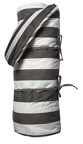 A.U MAISON Picknickdecke Giant STRIPES140x180cm schwarz weiß mit Streifen