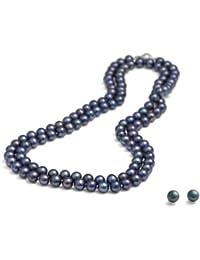 c1d81e4f3a6e Collares de perlas cultivadas de agua dulce Rolicia en caja de regalo