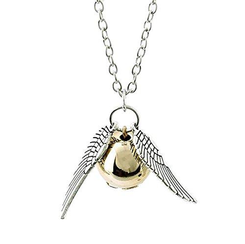 Collana Boccino d'oro Ali d'argento della saga HARRY POTTER - Quidditch Hogwarts Grifondoro HIGH QUALITY