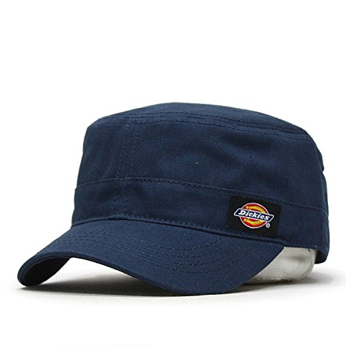 Dickies Core Wax Coated Cotton Canvas Fitted Cadet Military Radar Cap (S/M, Core Navy)