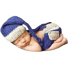 Ateid Disfraz Atrezzo de Fotografía Traje Para Bebé Recién, 0-12 Meses, Azul Marino
