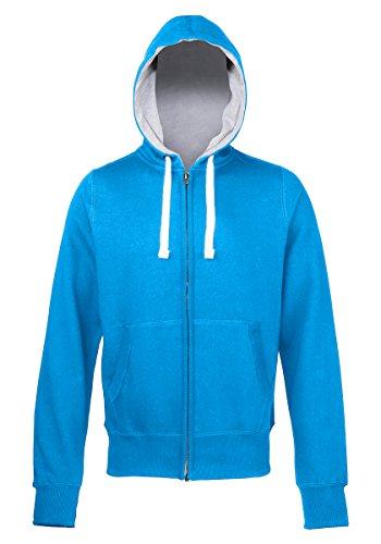 Chunky zoodie AWDis Hoods Streetwear Felpa Cappuccio Uomo Sapphire Blue