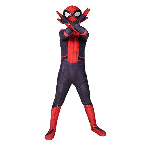 DFRTYE Spider-Man Halloween Erwachsene Kinder Kostüm Overall 3D Print Spandex Spiderman Verkleidung Kostüm Cosplay Body,Adult-S