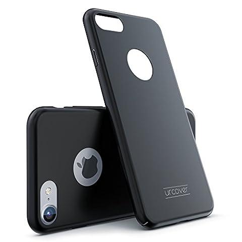IPhone 7 Black Hybrid 360 boîtier mince dur + couvercle en verre trempé