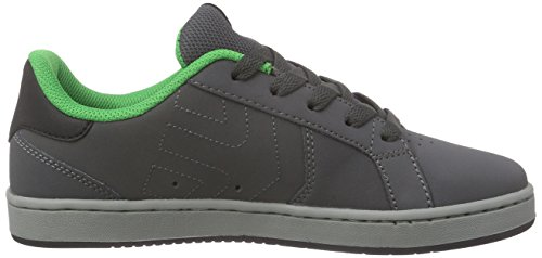 Etnies KIDS FADER LS, Chaussures de Skateboard mixte enfant Gris - Grau (375 / GREY/GREEN)