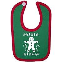 Ugly maglione natalizio Design Omino di Pan di Zenzero, e Candy Canes Baby, con chiusura in velcro - Cane Pan