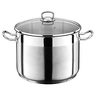 5 Liter Kochtopf mit Glasdeckel Suppentopf Topf Eintopf Universaltopf Silber INDUKTION (5 Liter) von Liivo