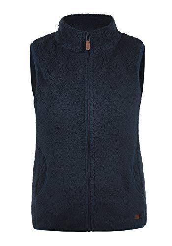 DESIRES Theri Damen Fleece-Weste Teddyfleece Weste Mit Stehkragen, Größe:XL, Farbe:Insignia Blue (1991)
