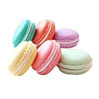 Andifany 6 pcs Boxes for Earphones Macarons Card Holders Storage Bag Case Carrying Case