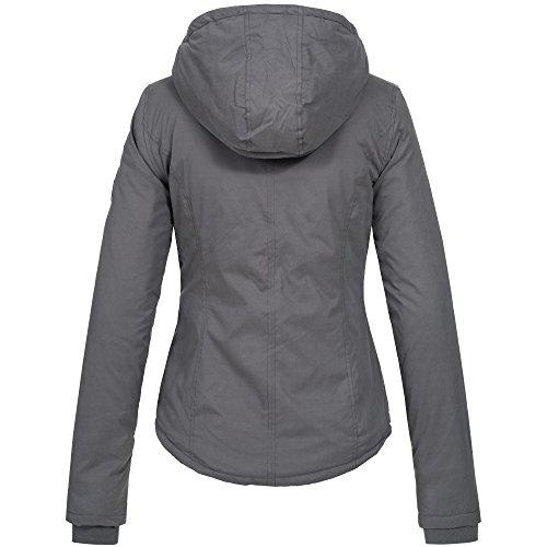 Ausnahme-Zustand Azuonda Damen Winterjacke Parka Jacke warm Teddyfell Kapuze XS-XL AZ25, Farbe:Grau, Größe:XS / 34 - 4