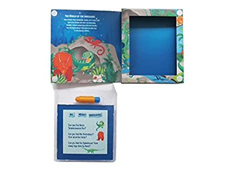 Magic Painting Dinosaur Colouring Set for Boys. Dinosaur Colouring Book Activity Set for Boys. Great travel activity packs for kids / Activity Book. Great Gifts for boys 3 years old, Gifts for Boys