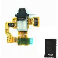 Reemplazo Puerto para audífonos cable flexible compatible con el sensor de proximidad con Sony Xperia Mini compacto Z3 D5803 D5833 VEKIR Retailverpackung