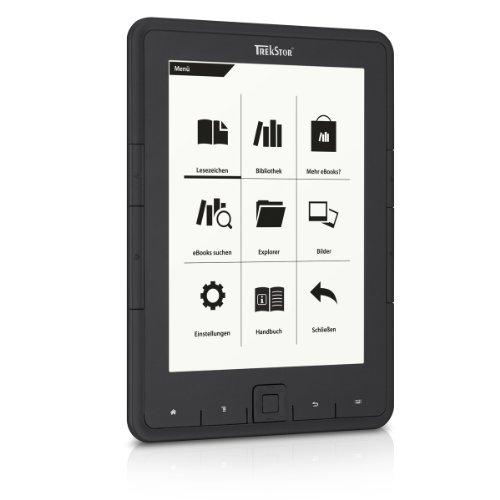 TrekStor eBook Reader Pyrus (15,2 cm (6 Zoll ) Digital Ink Display, 4 GB) schwarz