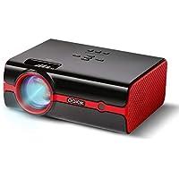 Proyector Paick Vídeo Proyector 2200 Lúmenes Multimedia LED Proyector de Cine en casa Compatible con HD 1080p HDMI VGA AV USB TF teléfono inteligenteTV
