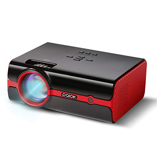 Video Beamer Paick Mini LED Beamer 2200 Lumen Projektor großes Bild 180 Zoll Full HD 1080P Multimedia Unterstützung HDMI VGA AV USB TF für Laptop Fernseher Smartphone Weltmeisterschaft
