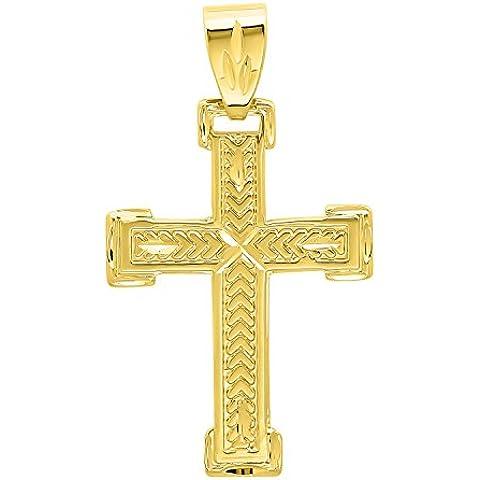 Lucido, placcato oro 14 k, con pendente