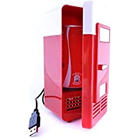 Mini Nevera USB Refrigerador Calentador Pequeño Frigorífico para Lata Color Rojo/Blanco