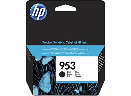 Preisvergleich Produktbild HP 953 Schwarze Original-Tintenpatrone, Tintenpatrone für Drucker (schwarz, Standard, HP,-40 – 60 °C, OfficeJet Pro 8210 Officejet Pro 8218 Officejet Pro 8710 AIO OfficeJet Pro 8715 AIO, 5 – 35 °C)