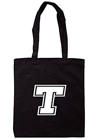 BreadandButterThreads Alphabet - T Tote Bag 37.5cm x 42cm with