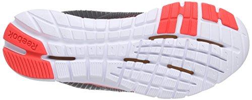 Reebok Zquick Dash, Chaussures de Running femme Gris (gravel/black/neon Cherry/white)