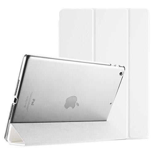 ProCase Funda iPad 9,7' 6ta 2018/ 5ta Generación 2017, Estuche Ultra Delgado Ligero Carcasa con Soporte Tapa Inteligente Reverso Translúcido Esmerilado para Apple iPad 9,7 Pulgadas –Blanco