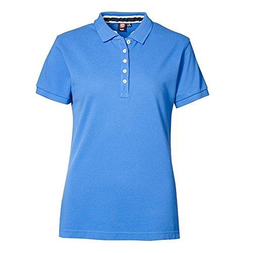 ID Damen Piqué Poloshirt Azurblau