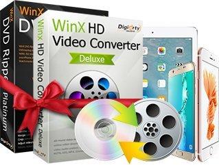 WinX DVD Video Converter Pack - Offizieller Partner von DIGIARTY (Zum Download - keine CD / DVD) Winx Video Converter