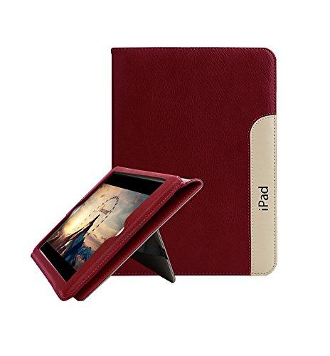 FAN SONG iPad 2/3 / 4 Schutzhülle Leder Smart [Flip Ständer, Aufwachen/Schlafen Funktion] Tablet Hülle Cover für Apple iPad 2/3/4