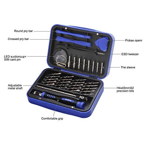 37 en 1 Profesional Magnético de Juego de Destornilladores con Magnetizador, Preciva Destornilladores de precisión kit, para reparación de PC, Teléfonos Móviles, PS4, Xbox, Cámara, electrónicos etc