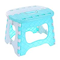 WYBFBYQ Multi-Purpose Handy Foldable Sturdy Step Stool, Ideal for All Homes, Kitchen, Bathroom, Garages, DIY and More,Blue